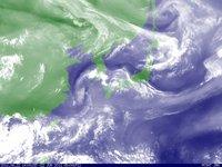 2011年6月22日14時 ひまわり水蒸気画像