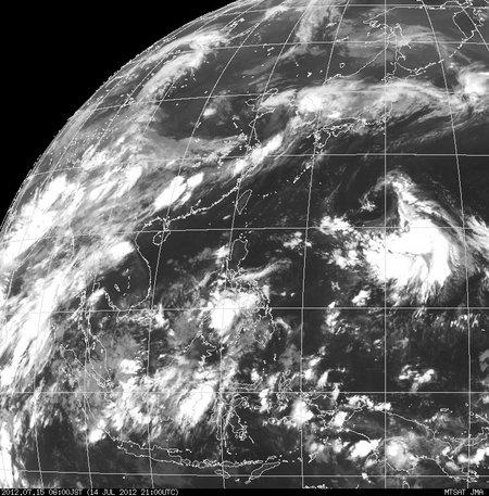 2012年07月15日06時 ひまわり赤外線画像