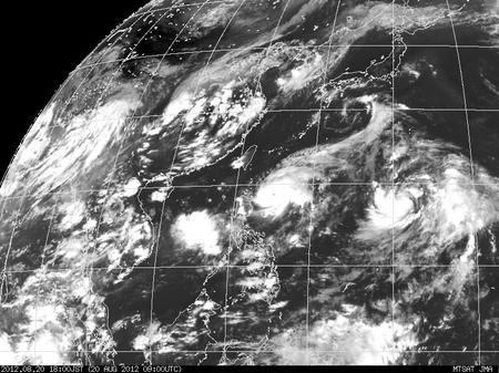 2012年8月20日18時 ひまわり7号赤外線画像