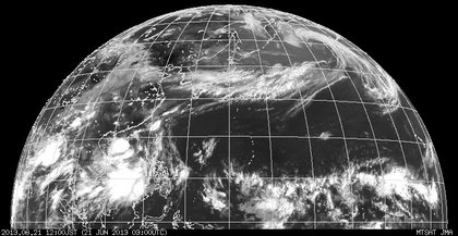 2013年6月21日12時 ひまわり7号赤外線画像
