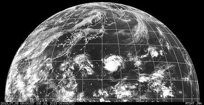 2013年7月8日9時 ひまわり7号赤外線画像
