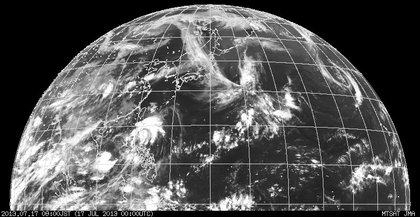 2013年7月17日9時 ひまわり7号赤外線画像