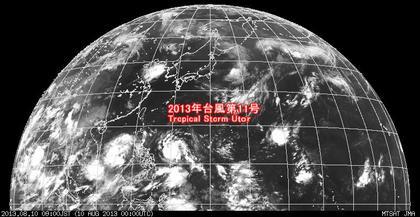 2013年8月10日9時 ひまわり7号赤外線画像