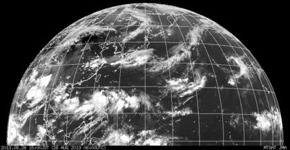 2013年8月26日15時 ひまわり7号赤外線画像