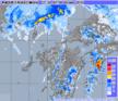 2013年10月8日21時 気象レーダー画像
