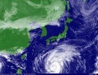 2013年10月14日12時JST ひまわり7号可視画像