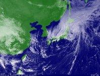 ひまわり7号可視画像 2013年10月16日12時JST