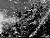 ひまわり7号可視画像・天気図合成 2013年10月17日12時JST