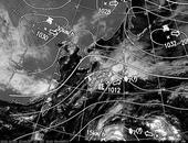 ひまわり7号可視画像・天気図合成 2013年10月20日12時JST