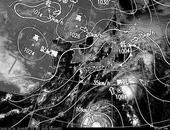 ひまわり7号可視画像・天気図合成 2013年10月21日12時JST