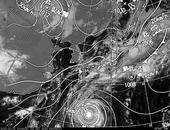 ひまわり6号可視画像・天気図合成 2013年10月22日12時JST