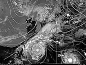 ひまわり6号可視画像・天気図合成 2013年10月24日12時JST