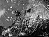 ひまわり6号可視画像・天気図合成 2013年10月26日12時JST