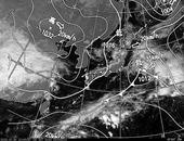 ひまわり6号可視画像・天気図合成 2013年10月30日12時JST