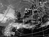 ひまわり6号可視画像・天気図合成 2013年11月1日12時JST