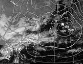 ひまわり6号可視画像・天気図合成 2013年11月2日12時JST