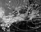 ひまわり6号可視画像・天気図合成 2013年11月3日12時JST