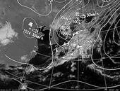 ひまわり6号可視画像・天気図合成 2013年11月7日12時JST
