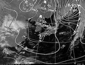 ひまわり6号可視画像・天気図合成 2013年11月8日12時JST