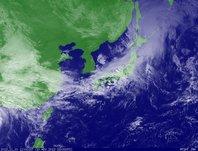 ひまわり6号可視画像 2013年11月10日12時JST