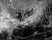 ひまわり6号可視画像・天気図合成 2013年11月10日12時JST