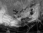 ひまわり6号可視画像・天気図合成 2013年11月11日12時JST