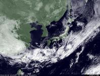 ひまわり7号可視画像 2014年3月3日12時JST