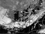 ひまわり7号可視画像・天気図合成 2014年3月3日12時JST