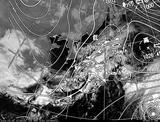 ひまわり7号可視画像・天気図合成 2014年3月5日12時30分JST