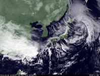 ひまわり7号可視画像 2014年3月6日12時30分JST