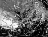 ひまわり7号可視画像・天気図合成 2014年3月6日12時30分JST