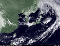 ひまわり7号可視画像 2014年4月5日12時JST
