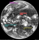 ひまわり7号赤外線画像 2014年4月5日21時JST