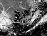 ひまわり7号可視画像・天気図合成 2014年4月6日12時JST