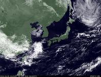 ひまわり7号可視画像 2014年4月8日12時JST