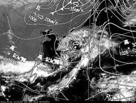 2ひまわり7号可視画像・天気図合成 2014年4月30日12時JST