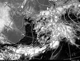 ひまわり7号可視画像・天気図合成 2014年6月12日12時JST