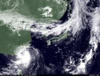 ひまわり7号可視画像 2014年7月23日12時JST