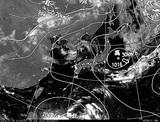 ひまわり7号可視画像・天気図合成 2014年7月29日12時JST