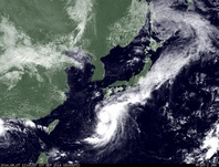 ひまわり7号可視画像 2014年9月7日12時JST