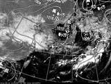 ひまわり7号可視画像・天気図合成 2014年9月12日12時JST
