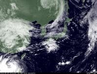 ひまわり7号可視画像 2014年9月15日12時JST