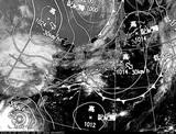 ひまわり7号可視画像・天気図合成 2014年9月15日12時JST