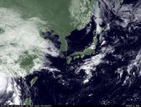 ひまわり7号可視画像 2014年9月16日12時JST