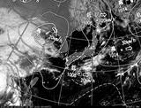 ひまわり7号可視画像・天気図合成 2014年9月16日12時JST