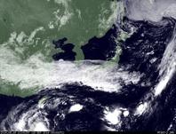 ひまわり7号可視画像 2014年9月19日12時JST