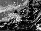 ひまわり7号可視画像・天気図合成 2014年9月23日12時JST