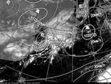 ひまわり7号可視画像・天気図合成 2014年9月24日12時JST