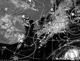 ひまわり7号可視画像・天気図合成 2014年9月25日12時JST