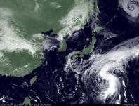 ひまわり7号可視画像 2014年9月27日12時JST